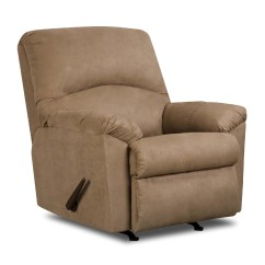 Rocker And Recliner Chair Curved Dining Chairs Simmons Tan Microfiber Carson