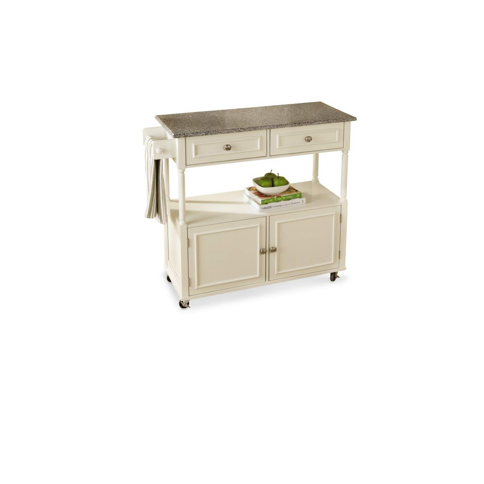 marble top kitchen cart aid refrigerator parts sandra lee granite create space with kmart