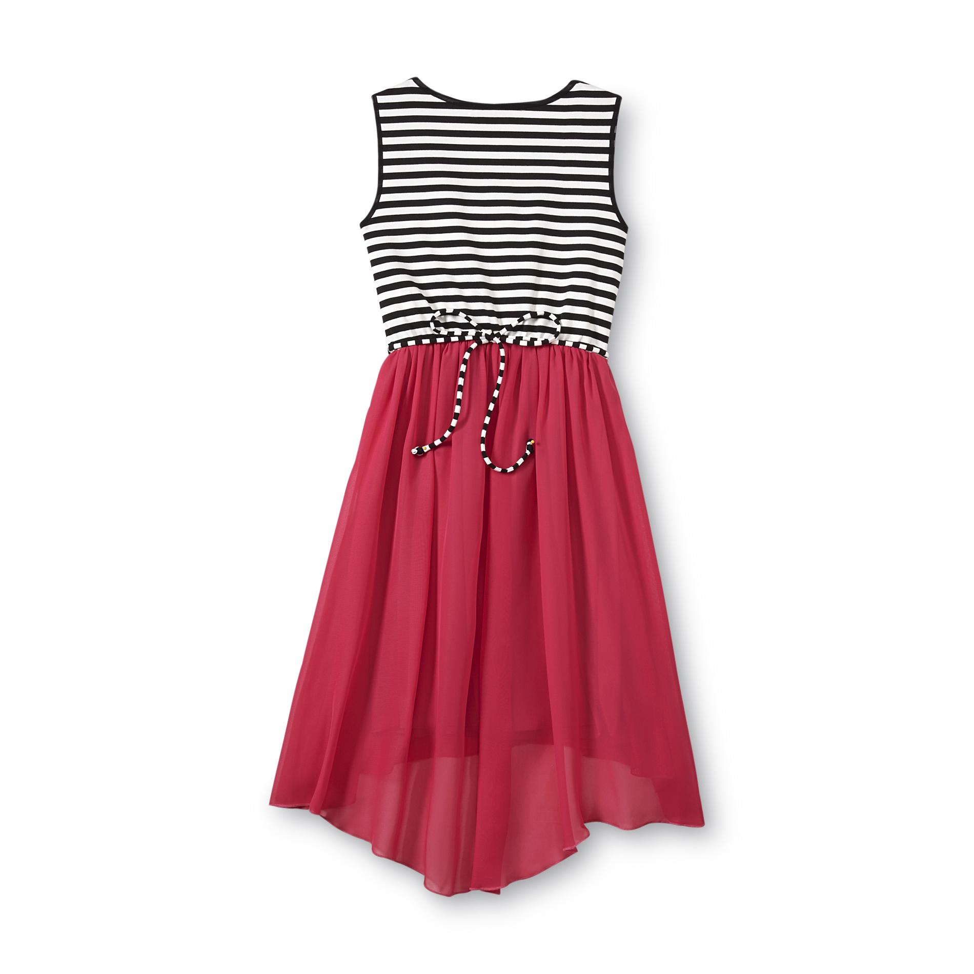 Speechless Girl' Illusion Dress - Striped