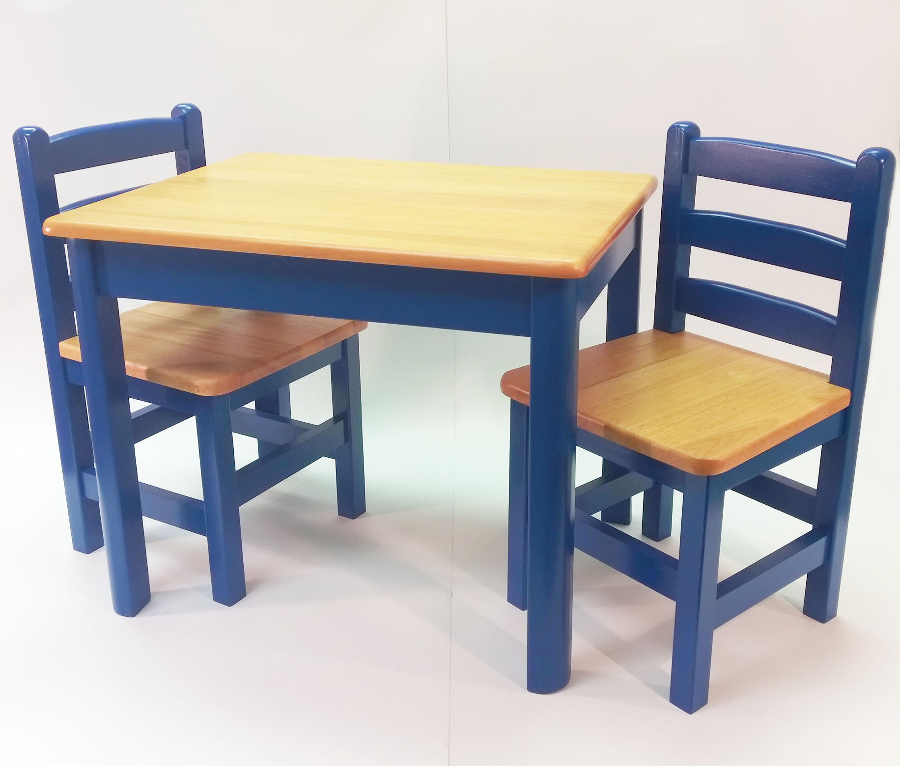 kids table and chair set kmart desk combo apple furniture just for chairs blue