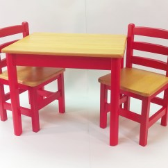 Kids Table And Chair Set Kmart Oak Rocking Apple Furniture Just For Chairs Red