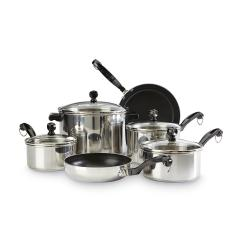 Kitchen Cookware Sets Ikea Cabinet Installation Farberware Classic Series 10 Piece Set Home
