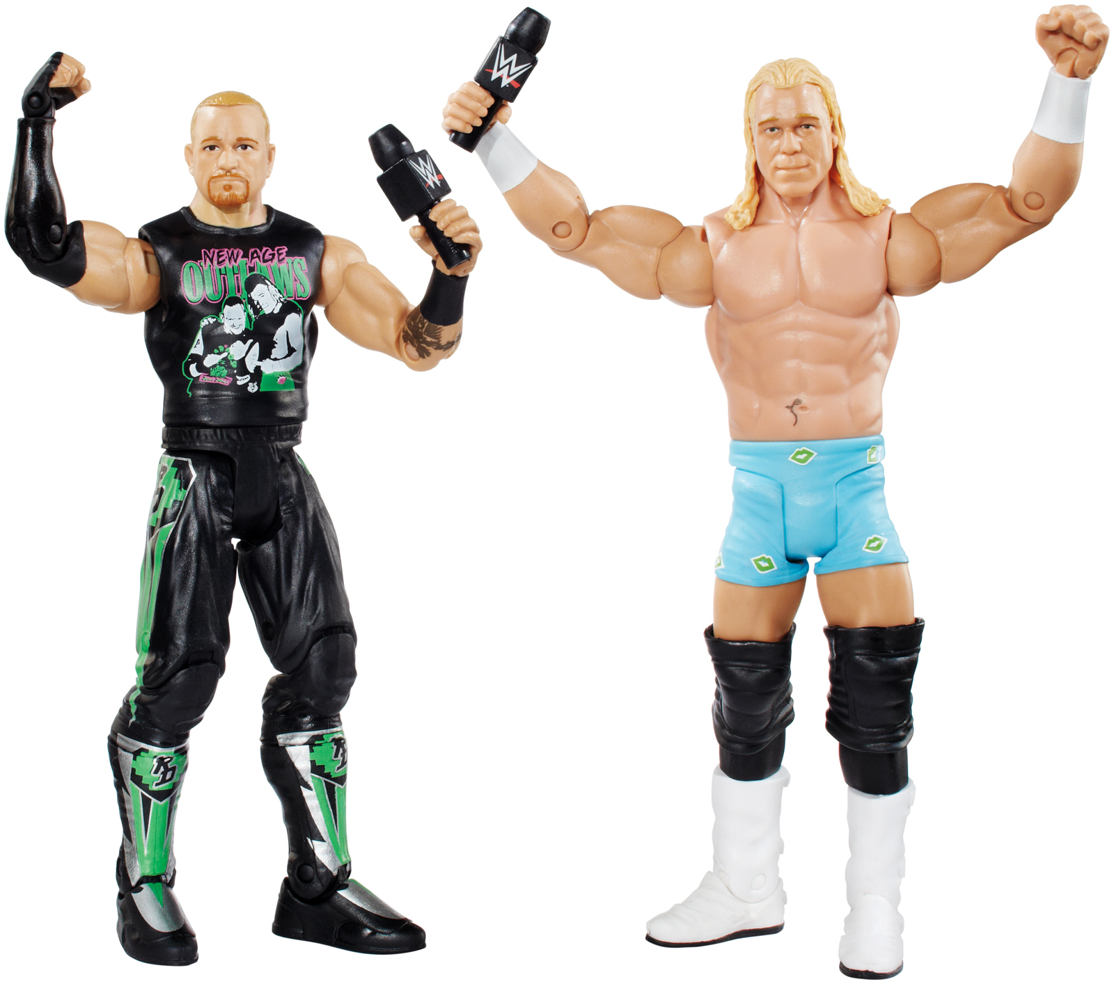 Wwe Age Outlaws Billy Gunn & Road Dogg - Battle Packs 32 Toy Wrestling Action Figures
