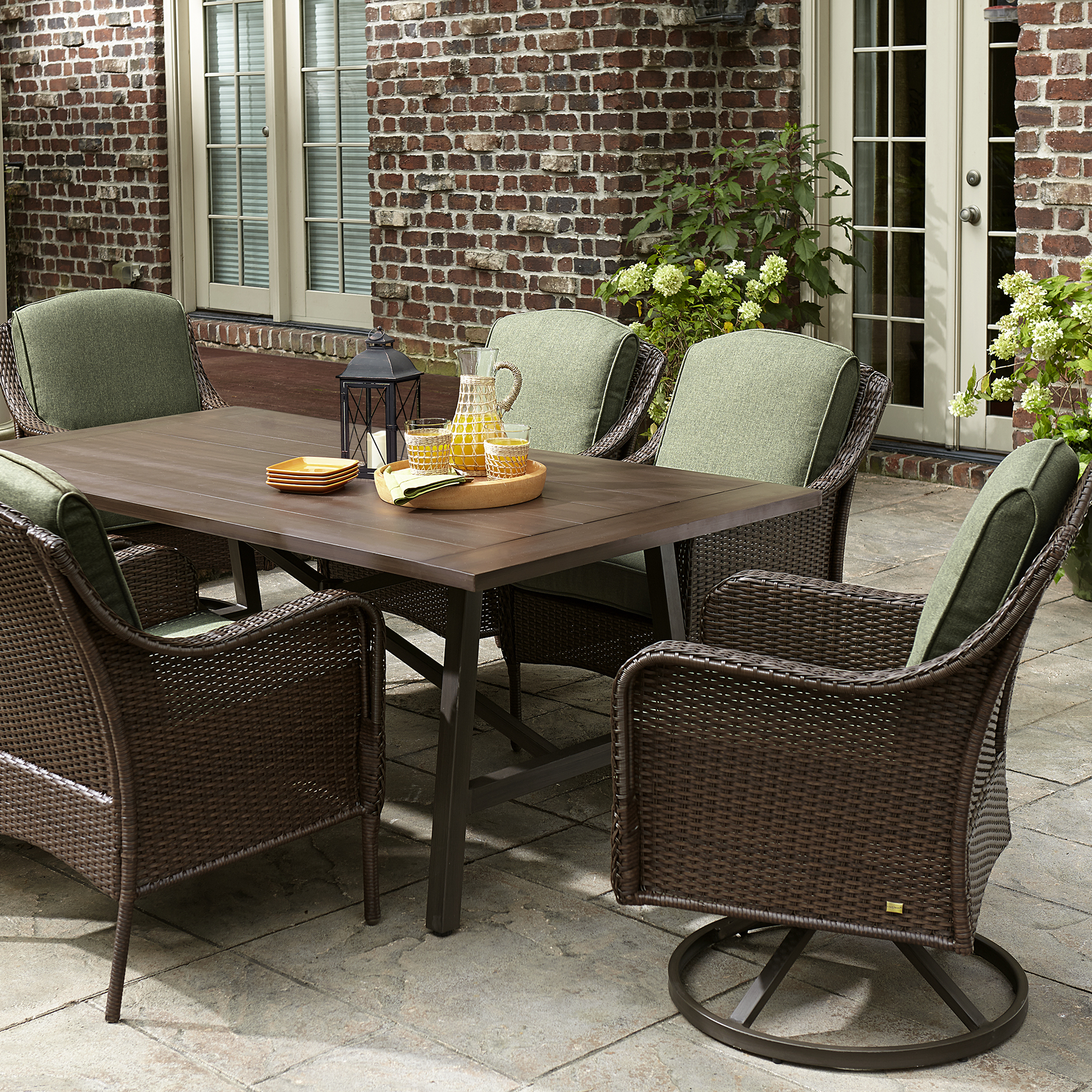 La-boy Outdoor Madeline 7 Piece Dining Set- Green