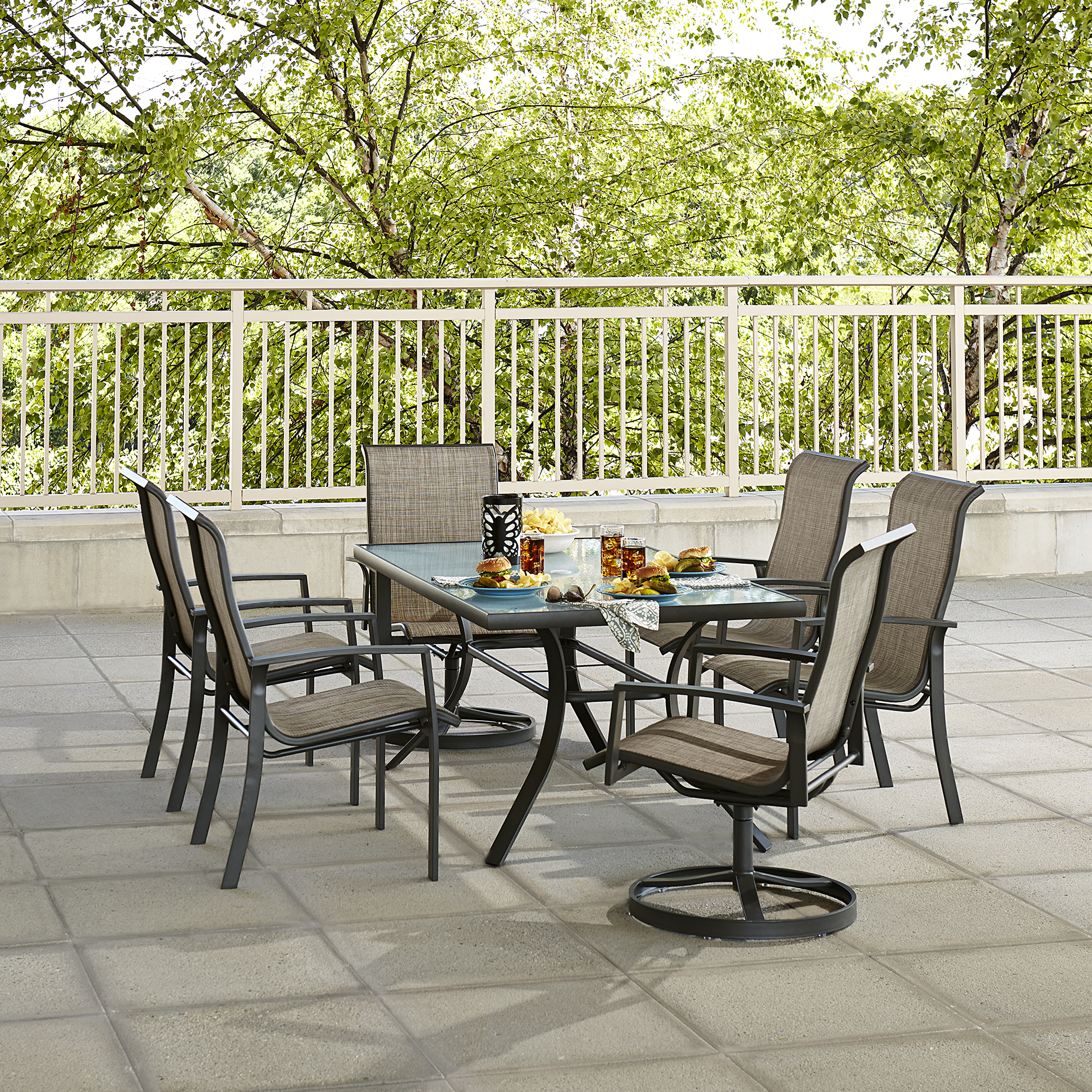 outdoor chairs kmart navy blue dining hoffman 6 patio