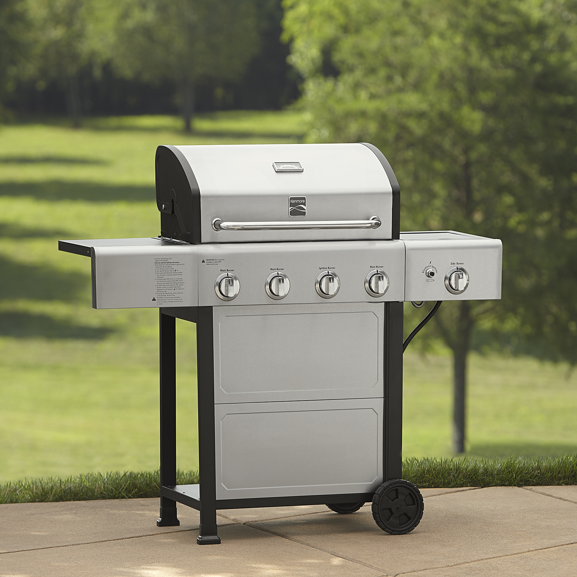 Kenmore 4 Burner Gas Grill with Stainless Steel