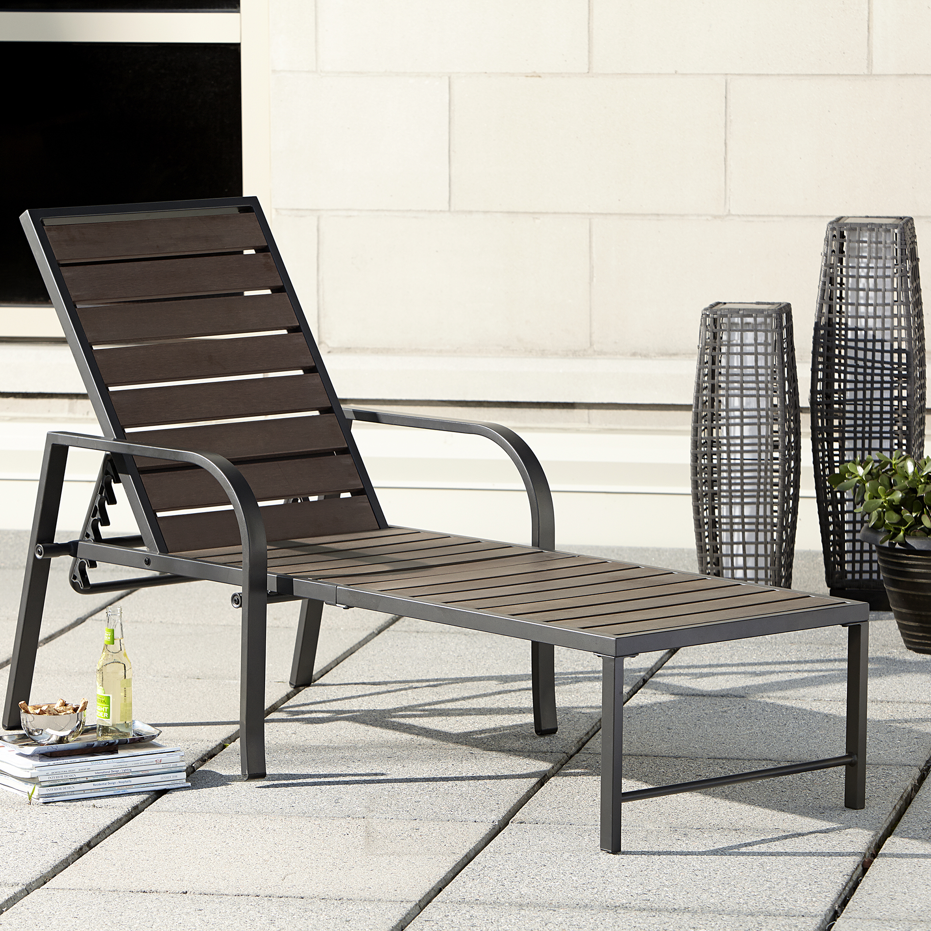 sears lounge chairs chromcraft dining ty pennington style quincy chaise outdoor living patio