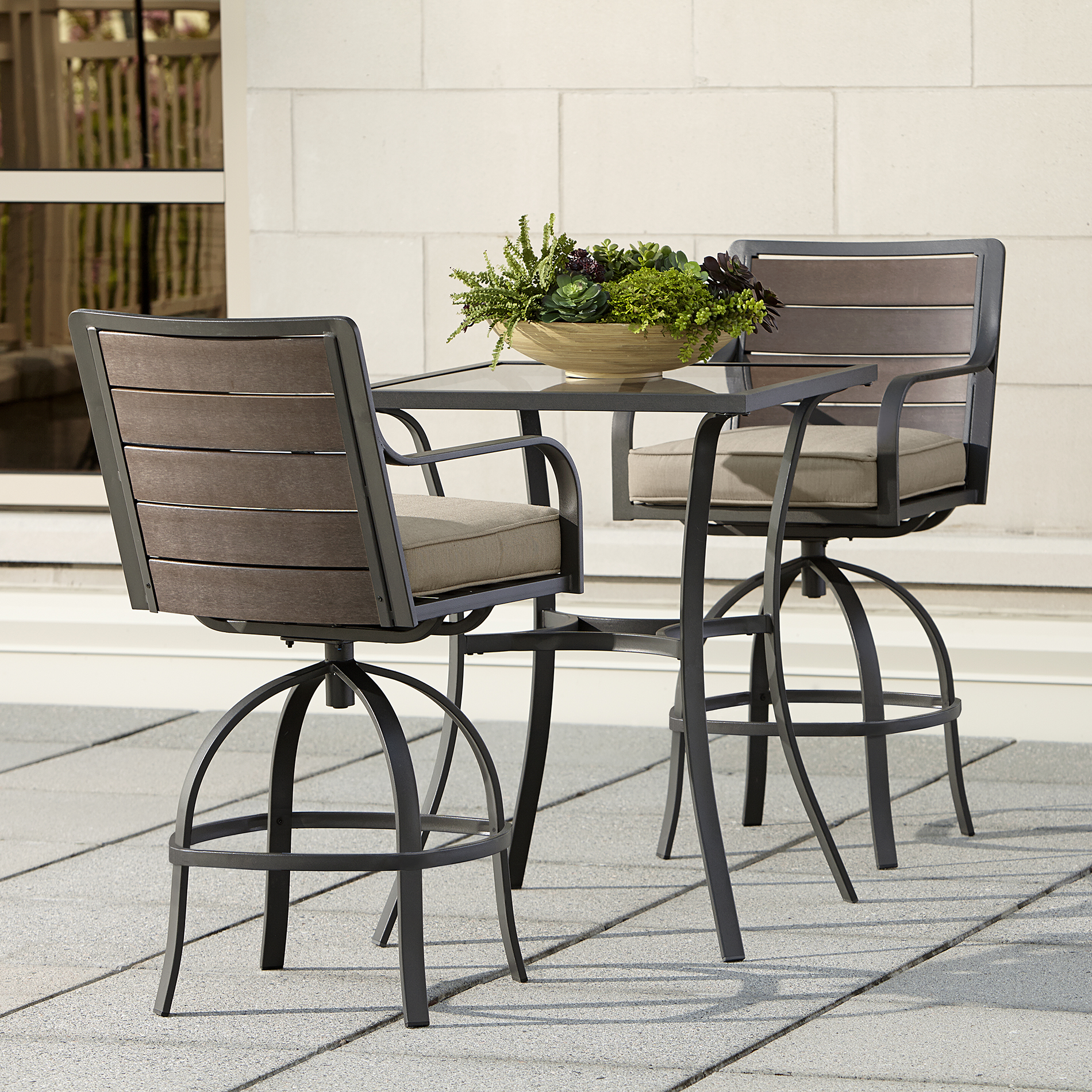 Ty Pennington Quincy 3pc High Swivel Bistro - Outdoor