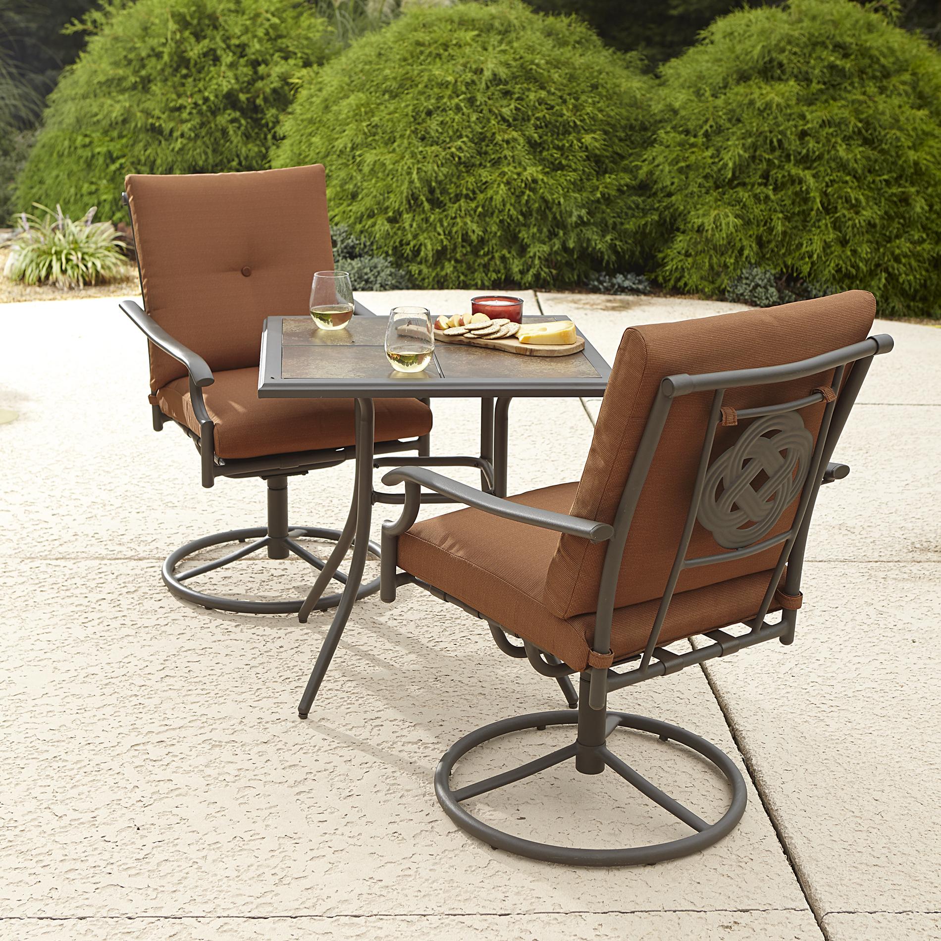 Garden Oasis Emery 3pc Bistro Set - Red Limited