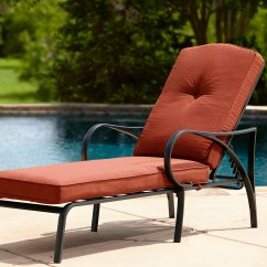 Red Chaise Lounge Chair Revolving Cream Grand Resort Oak Hill Cushion Outdoor
