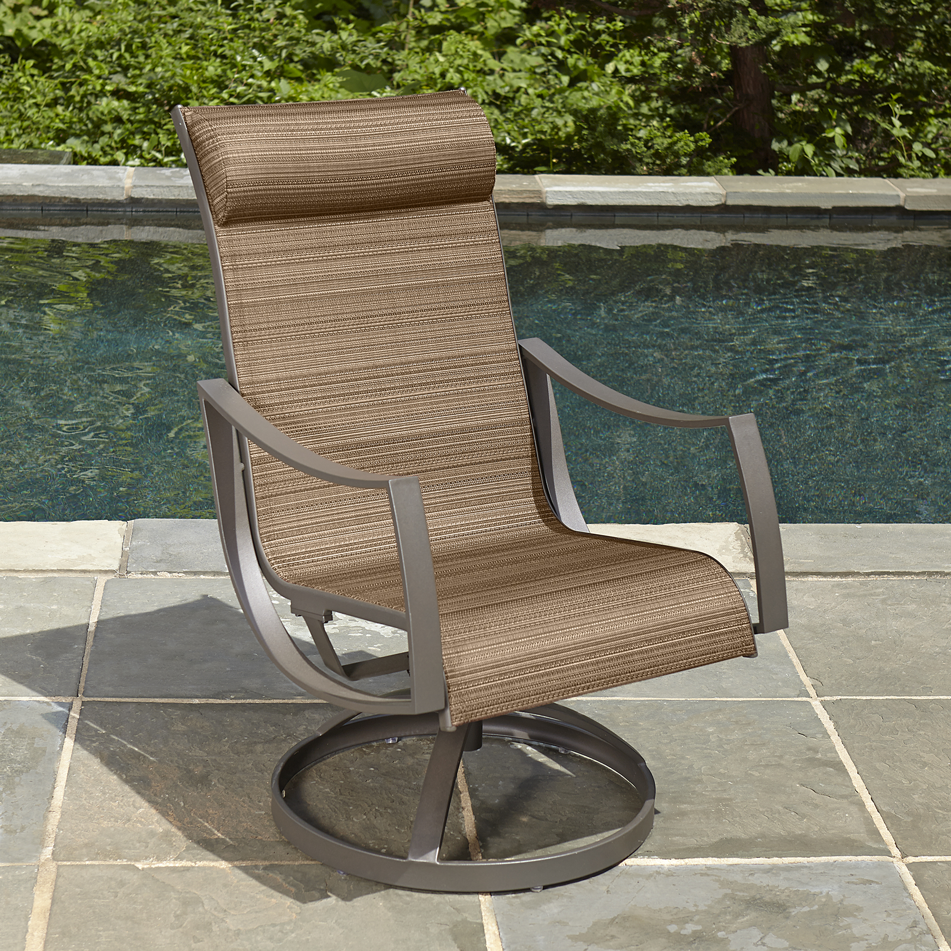 sling motion patio chairs high bar stool ty pennington style palmetto 1pc dining chair