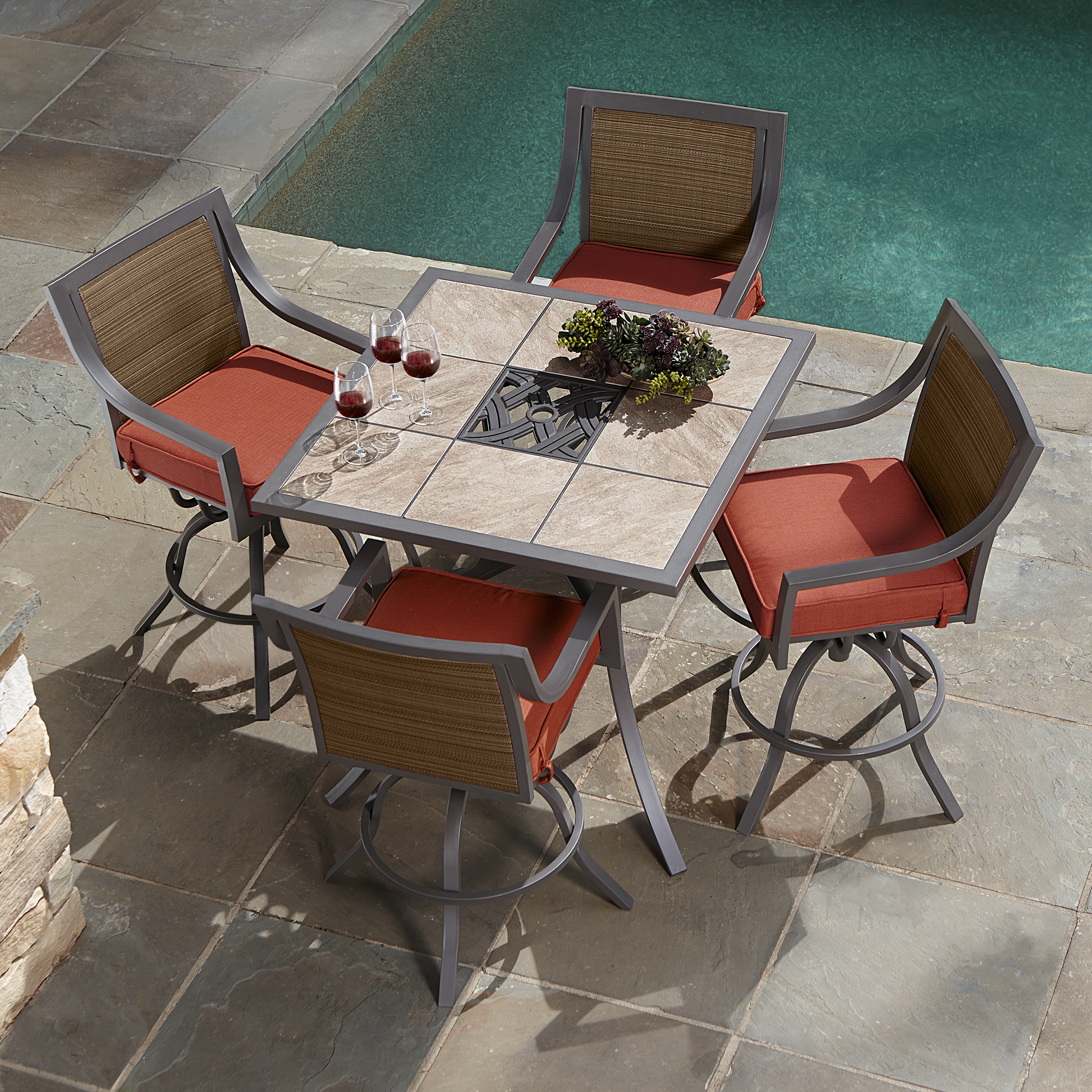 Ty Pennington Palmetto 5 Piece Patio High Dining Set