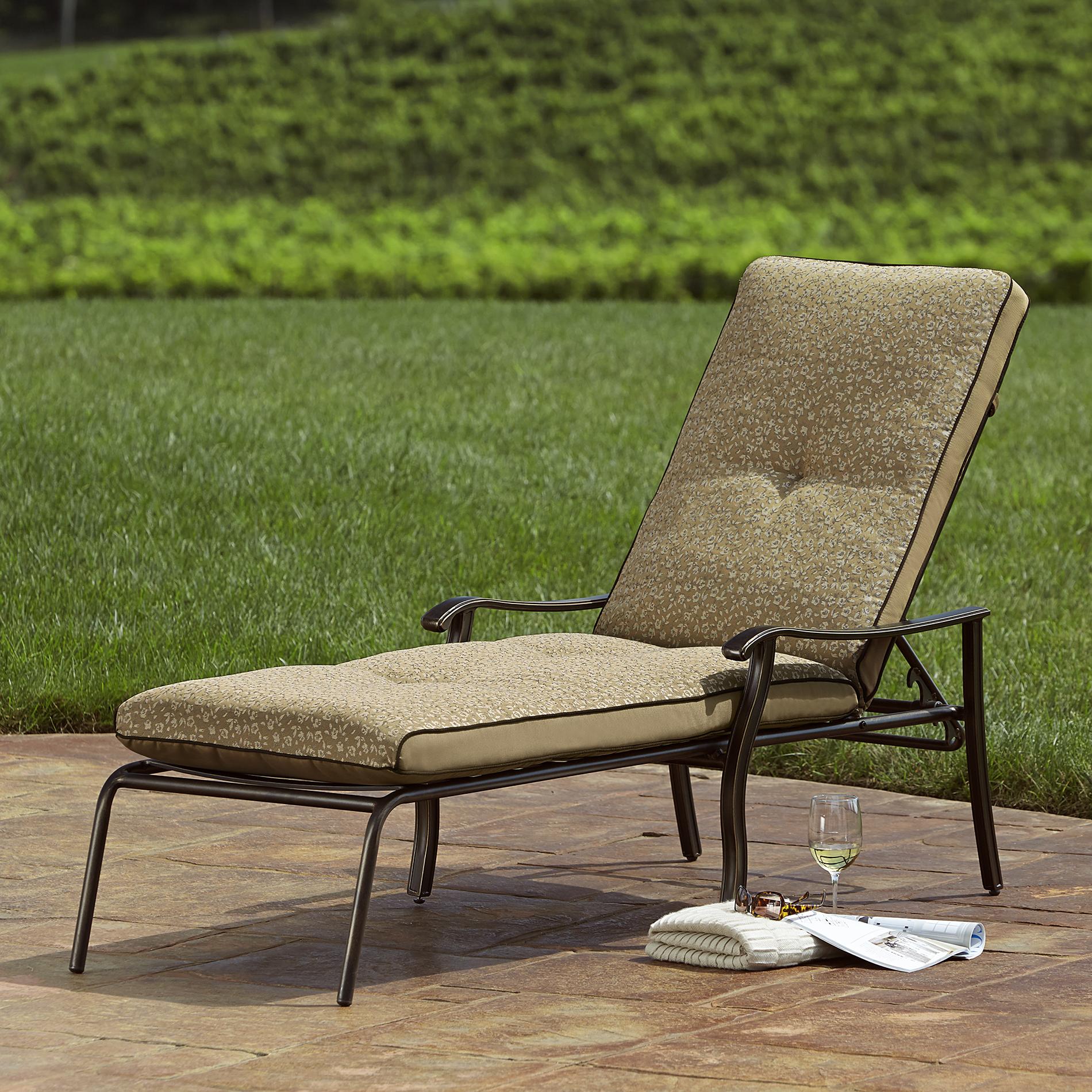 sun lounge chairs kmart silver desk chair agio international fair oaks cushioned chaise shop your