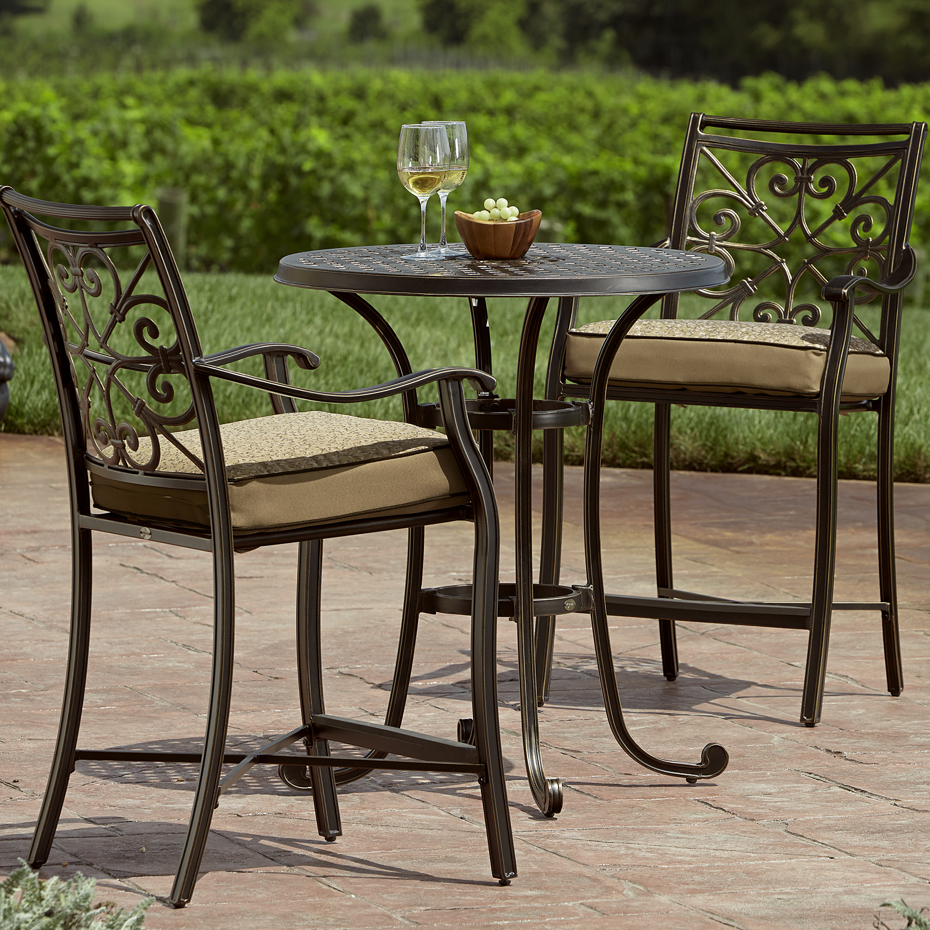 Balcony Height Patio Chairs Balcony Height Bistro Set Make The Most Of Outdoor Living