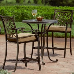 Bistro Table And Chairs Kmart Chair Covers & Linens West Mifflin Pa Balcony Height Set Make The Most Of Outdoor Living