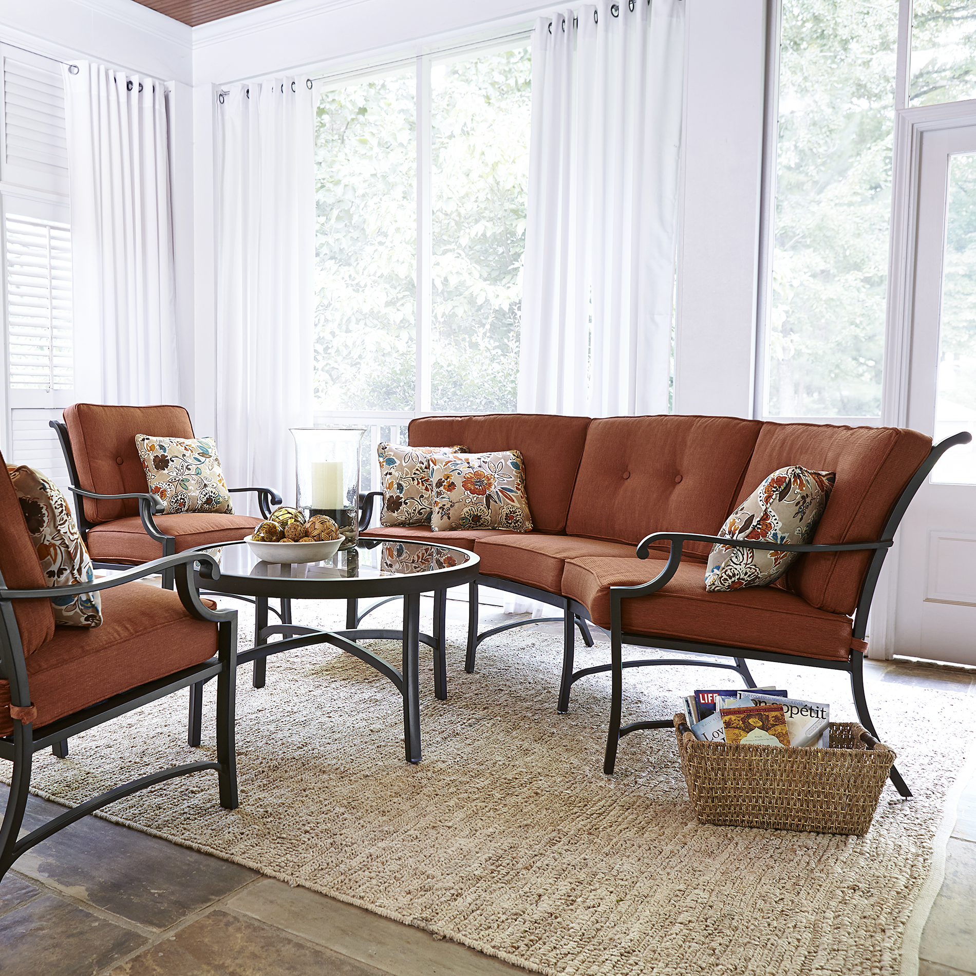 Grand Resort Florence 4 Piece Seating Set- Rust