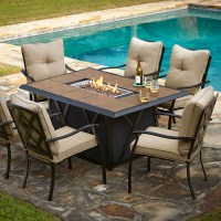 Patio Dining Sets With Fire Pits Photos