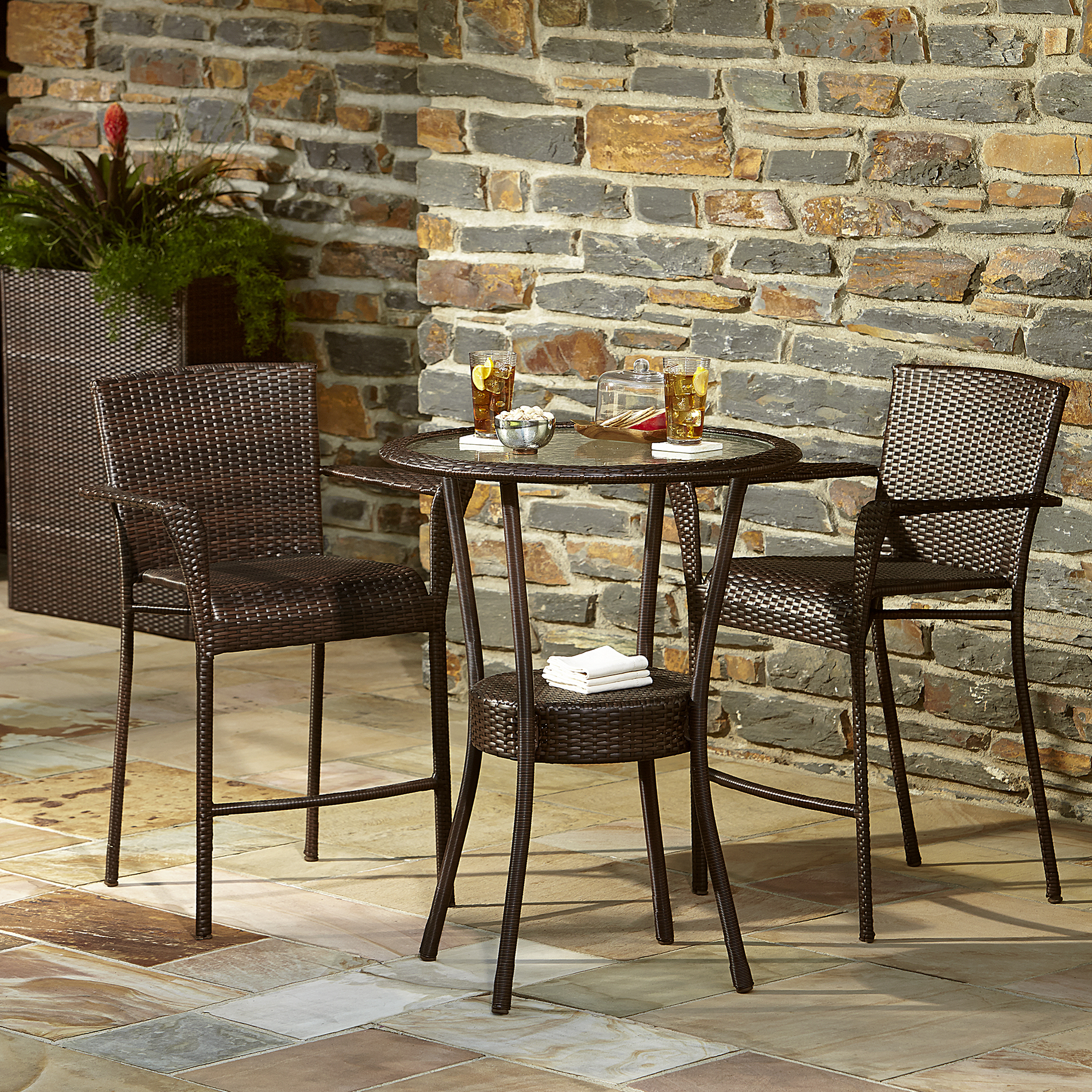 bistro table and chairs kmart chair with ottoman ty pennington style parkside 3 piece set limited