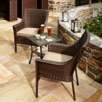 Ty Pennington Style Parkside 3 Piece Bistro Set - Outdoor ...