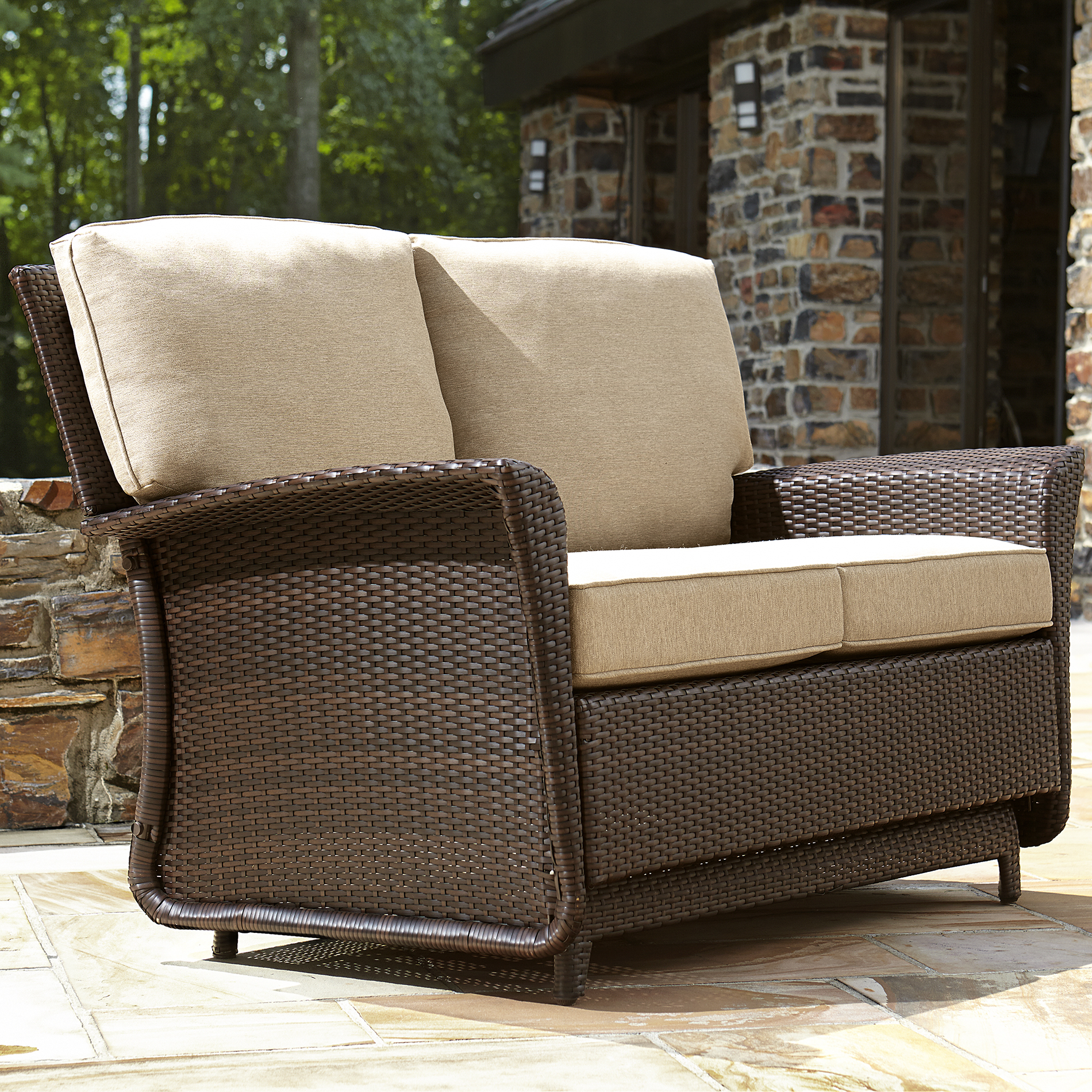 sears patio chair covers heated massage office ty pennington style parkside double glider limited