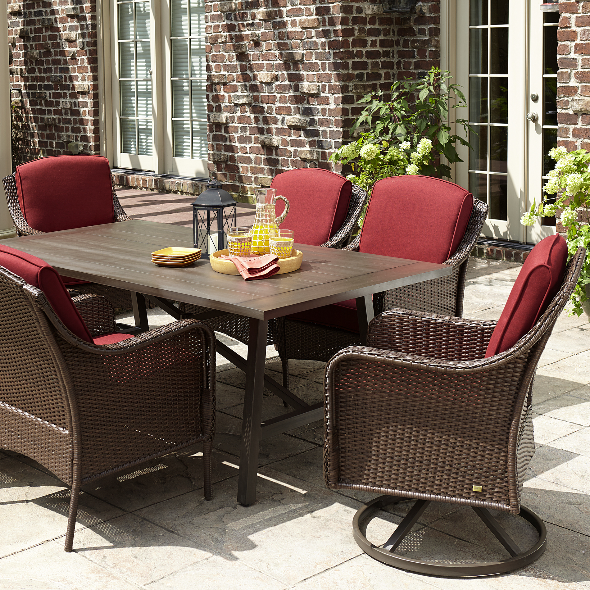 La-boy Madeline 7 Piece Dining Set- Red Limited