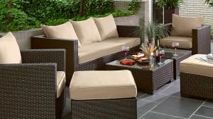 Grand Resort Osborn 7pc Sofa Seating Set Tan ***LIMITED