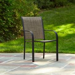 Stackable Outdoor Chairs Master Gym Chair Essential Garden Bartlett Brown Kmart