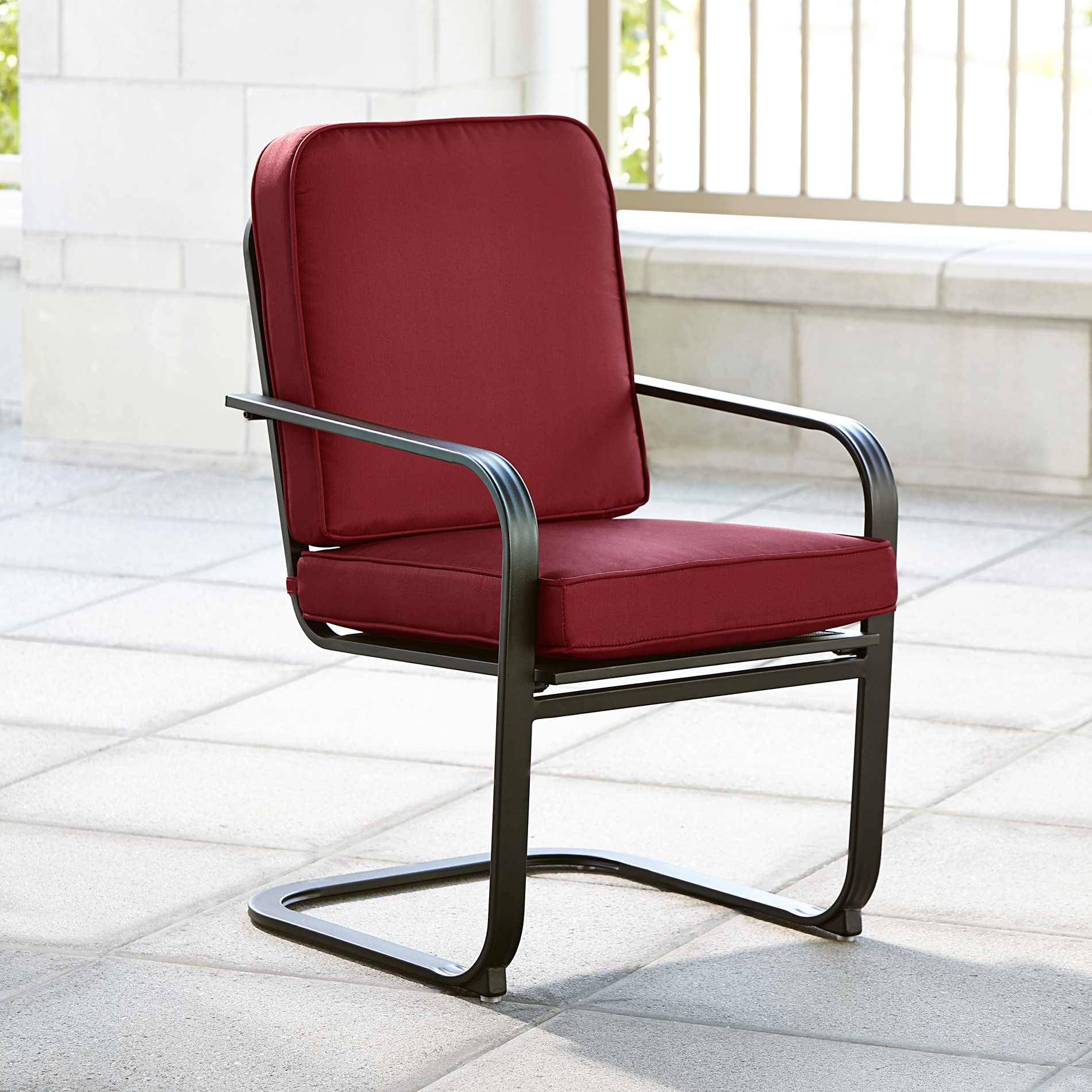 Single Chairs Essential Garden Bisbee Single Dining Chair Red Outdoor