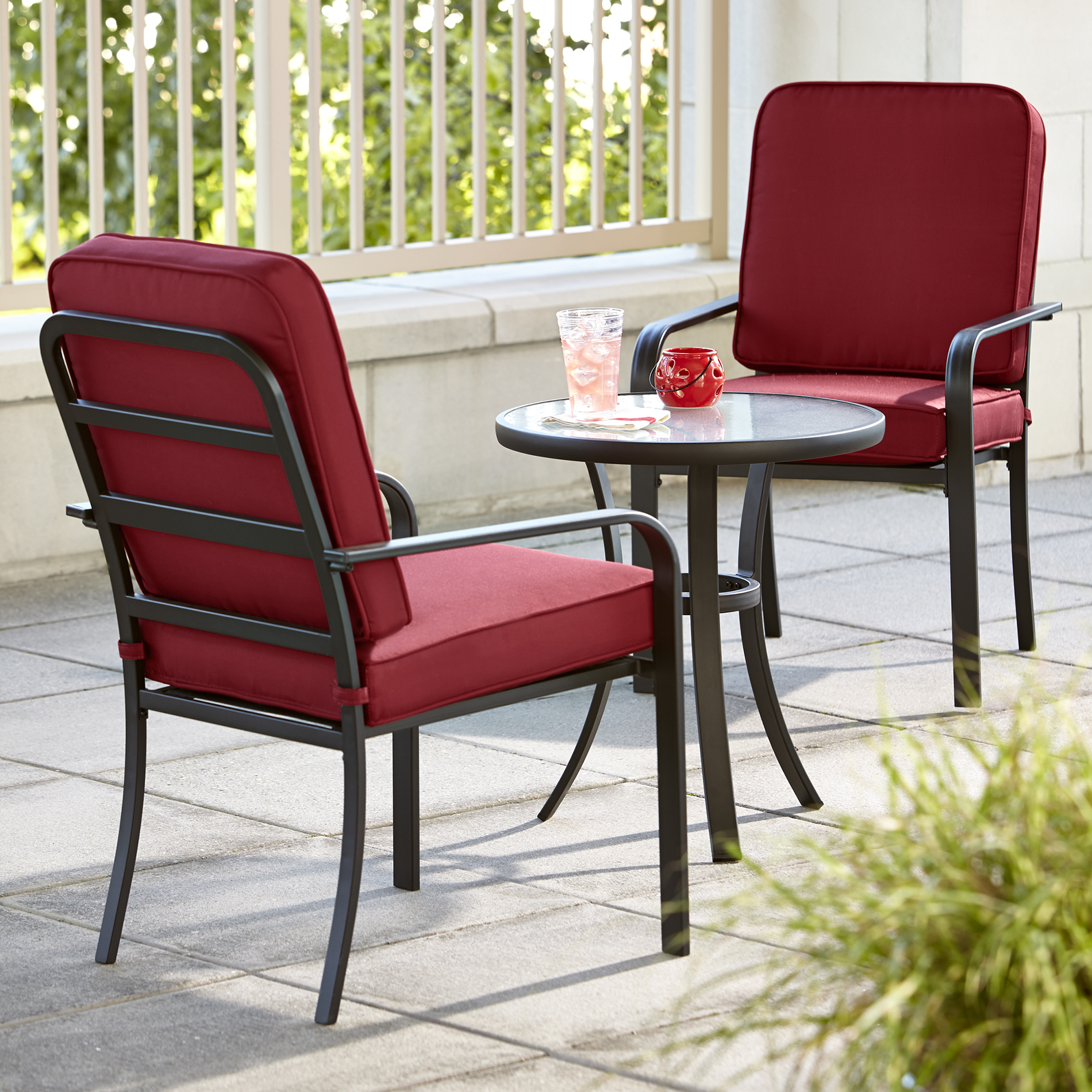outdoor chairs kmart black arm chair 3 piece bistro patio furniture