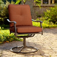 Jaclyn Smith Clermont Single Swivel Chair- Rust - Outdoor ...