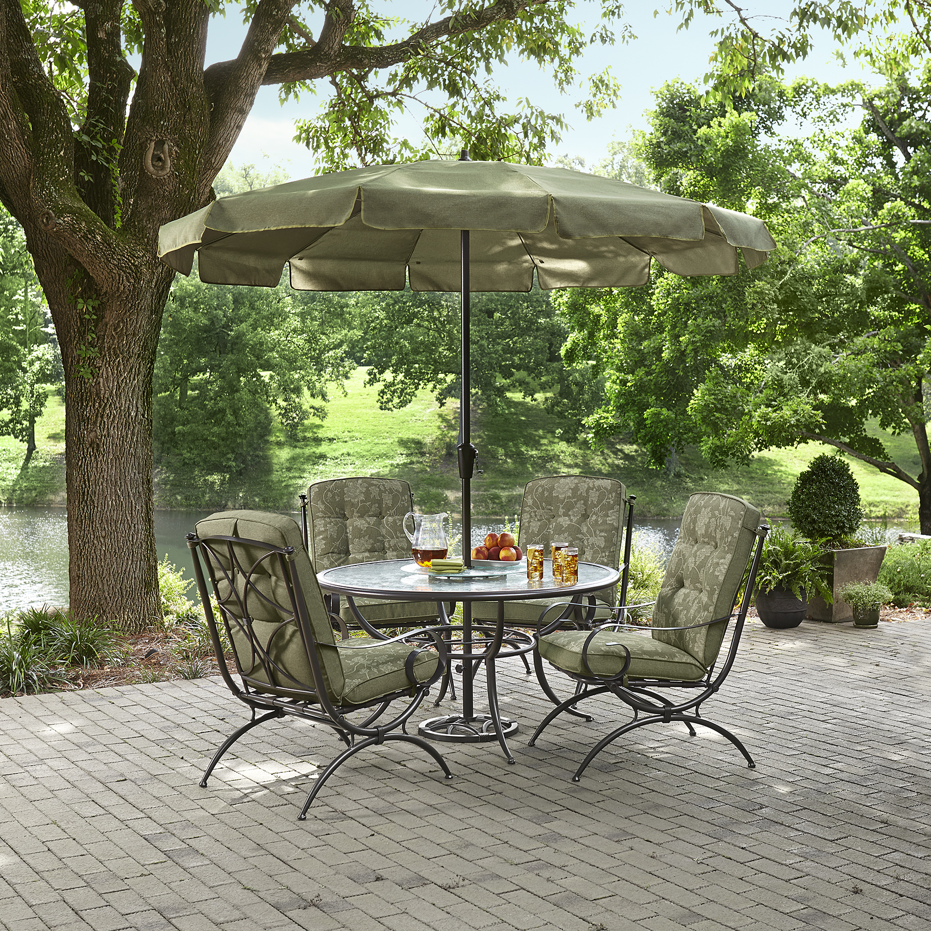Jaclyn Smith Cora Dining Table With Lazy Susan - Outdoor
