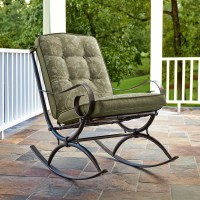Jaclyn Smith Cora Single Rocking Chair- Green - Outdoor ...