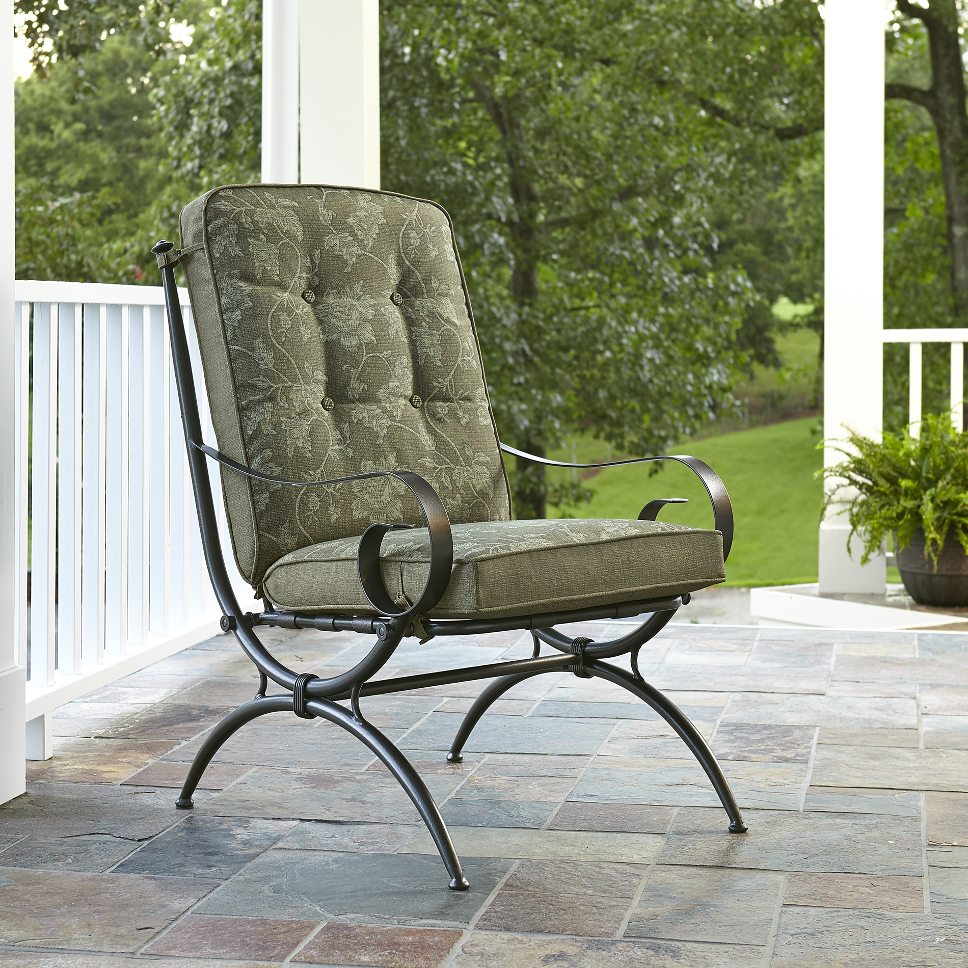 Jaclyn Smith Cora Single Dining Chair Green  Outdoor