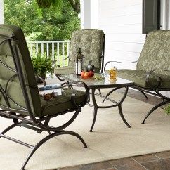 Outdoor Chairs Kmart French Prayer Chair Jaclyn Smith Cora 4 Piece Seating Set- Green - Living Patio Furniture Casual ...