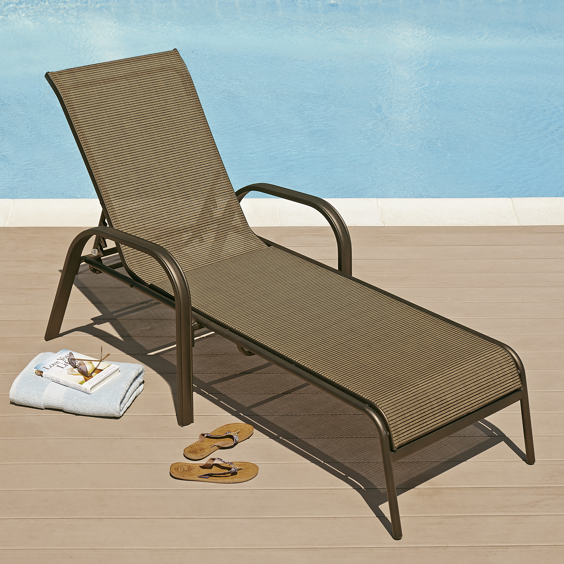 Sling Chaise Lounge Chair Grand Harbor Edgewater Sling Lounge Outdoor Living
