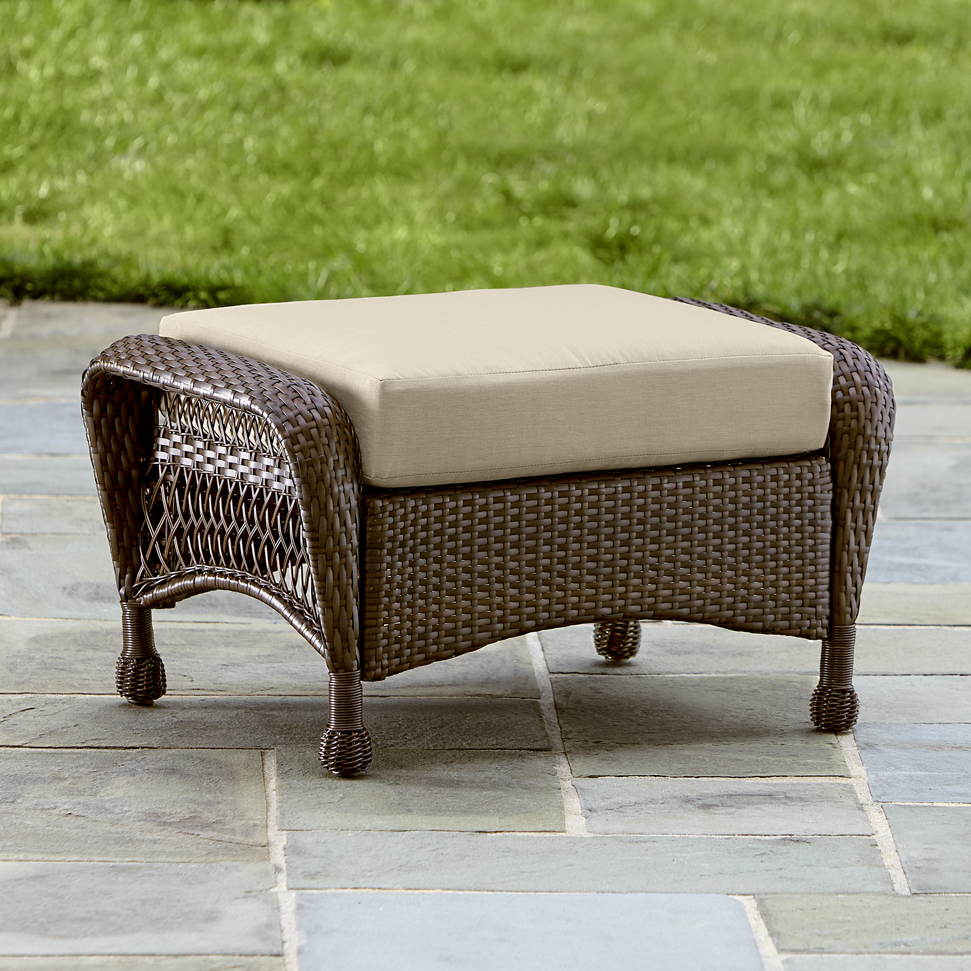 Grand Harbor Street Small Ottoman - Outdoor Living