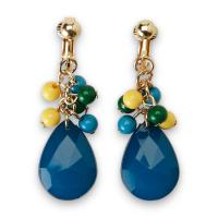 Jaclyn Smith Women's Beaded Dangle Clip-On Earrings
