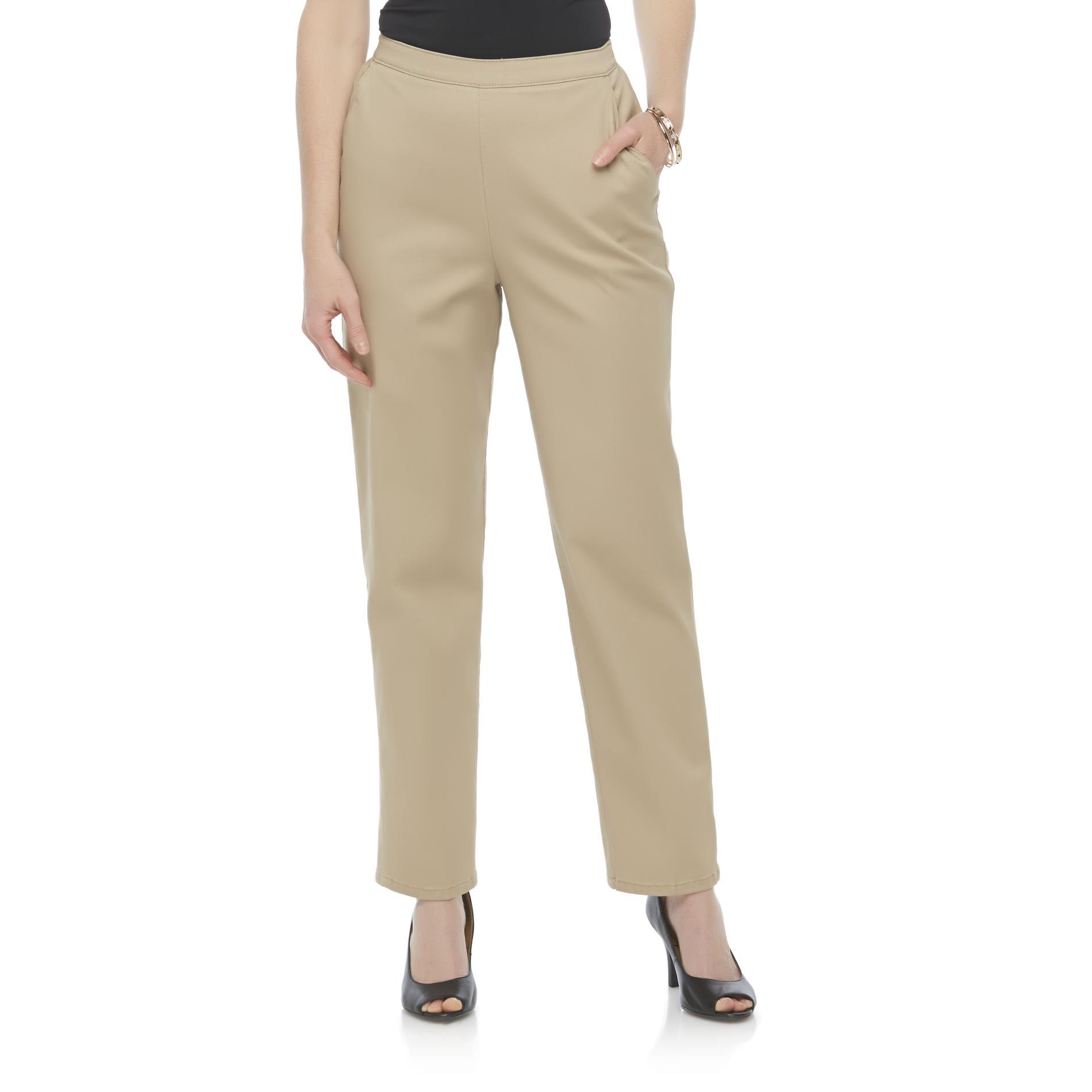 Laura Scott Women' Comfort Waist Khaki Pants