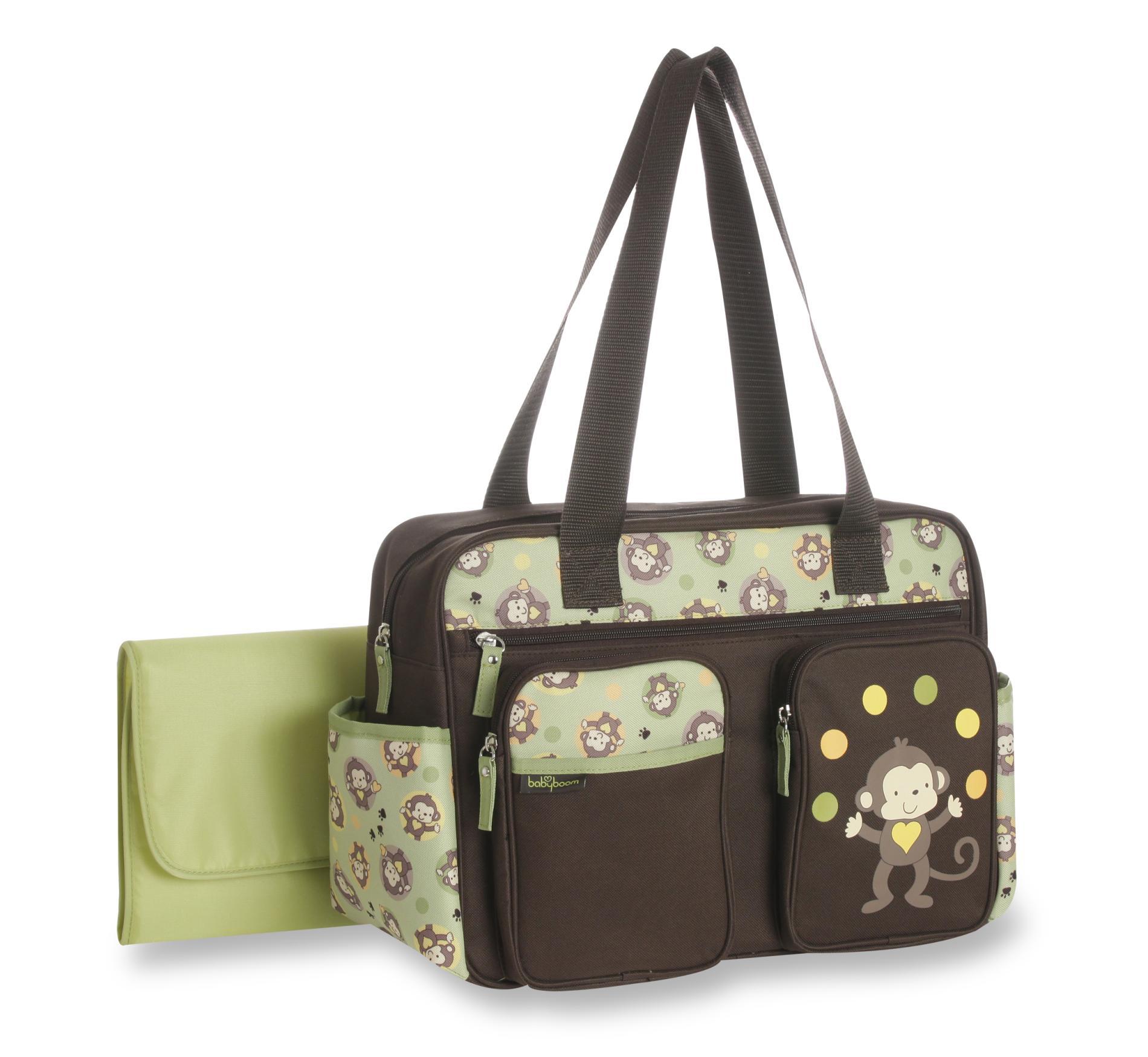 Baby Boom Diaper Bag & Changing Pad - Monkey