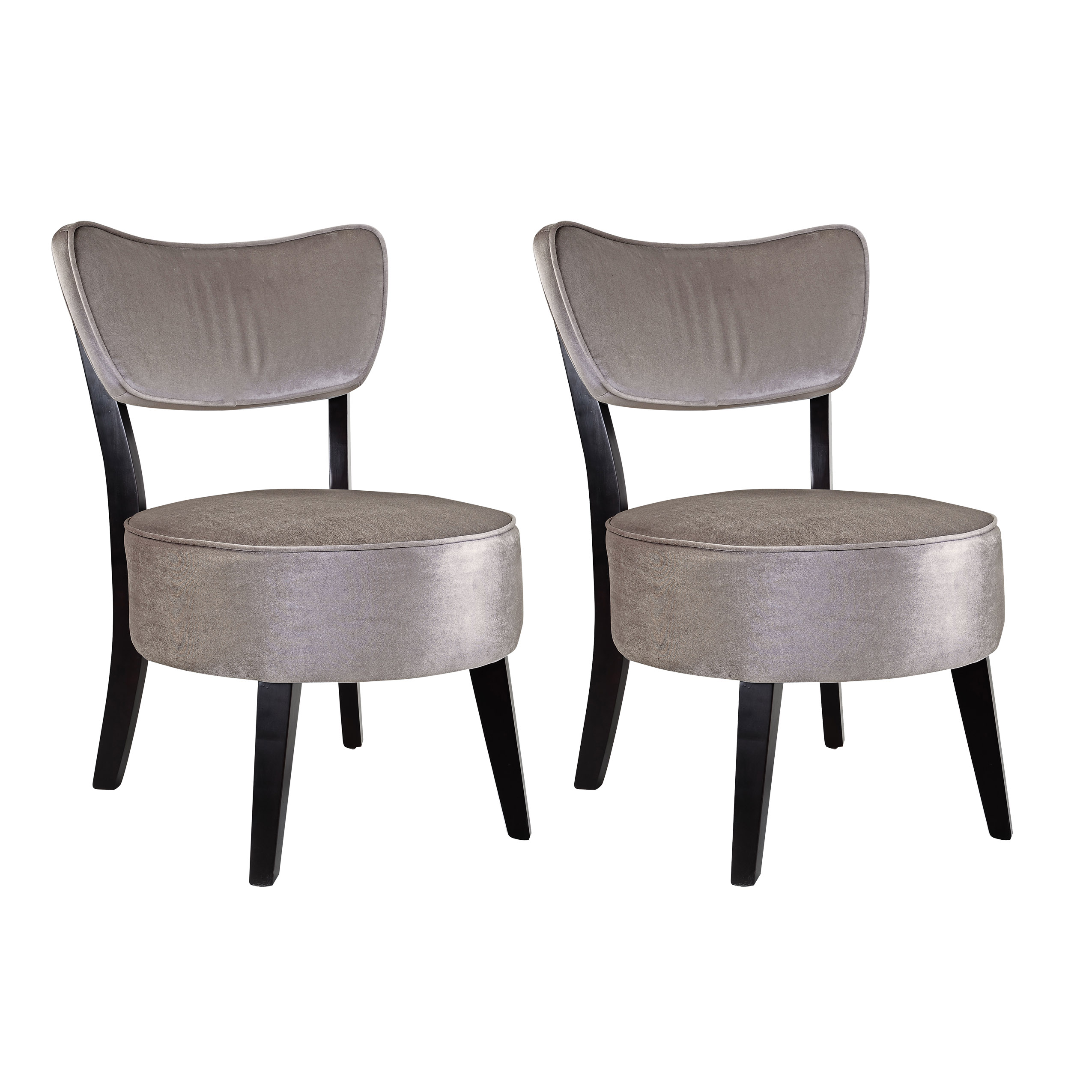 Sears Accent Chairs Corliving Antonio Accent Chair In Grey Velvet Set Of 2