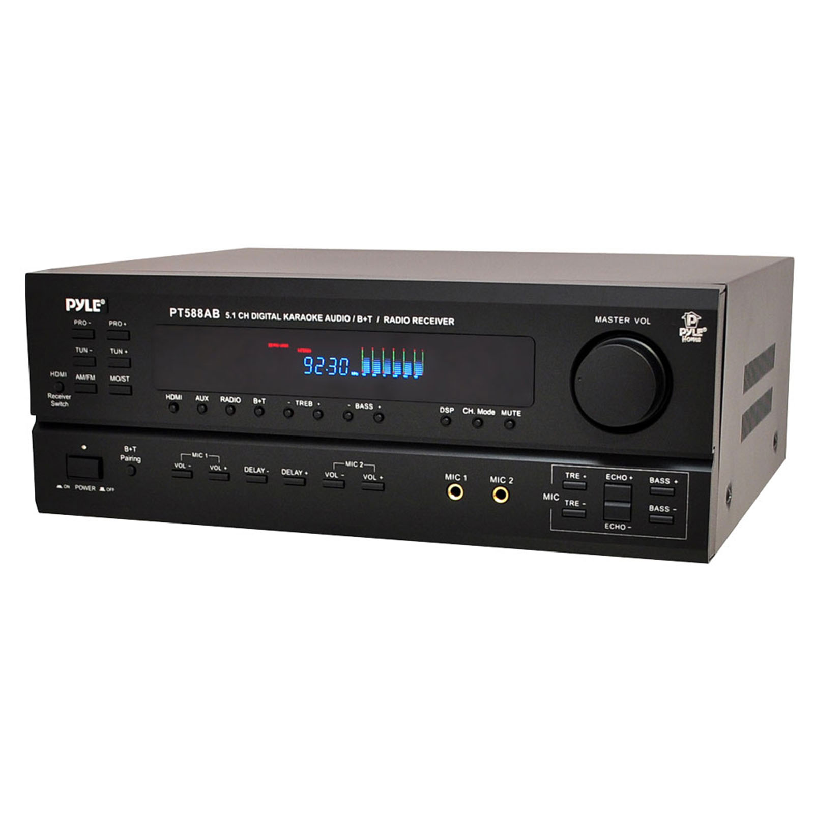 Pyle 97077340m 5.1 Channel Home Receiver With Fm Hdmi And Bluetooth