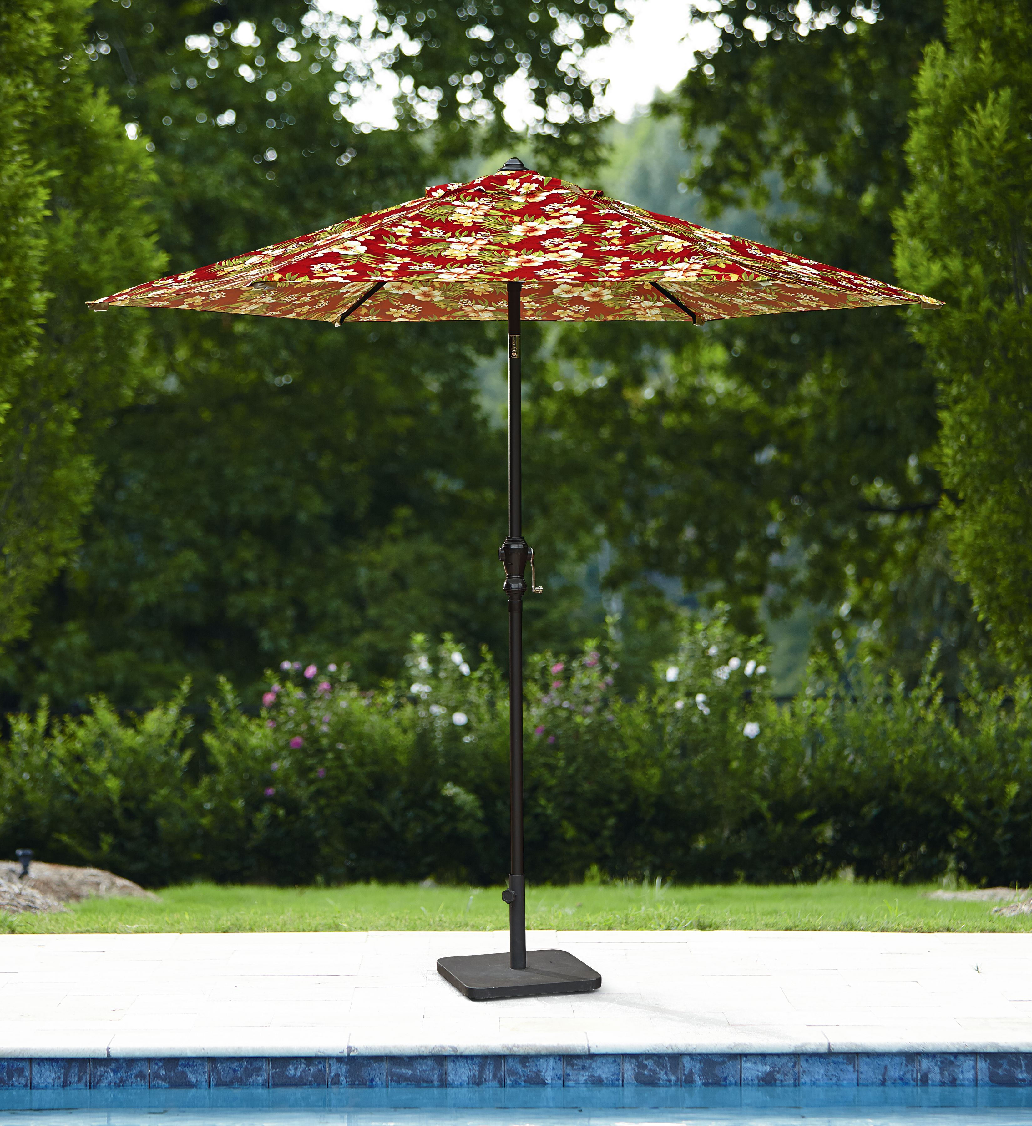 Essential Garden Printed 9ft Umbrella- Tropical Floral