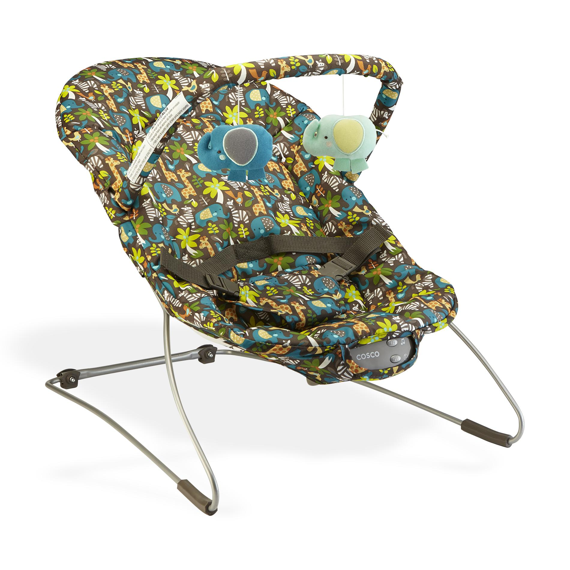 infant bouncy chair upholstered vanity chairs for bathroom cosco s calming motion bouncer seat wild things
