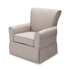 Delta Children Chair No Gravity Upholstered Glider Taupe