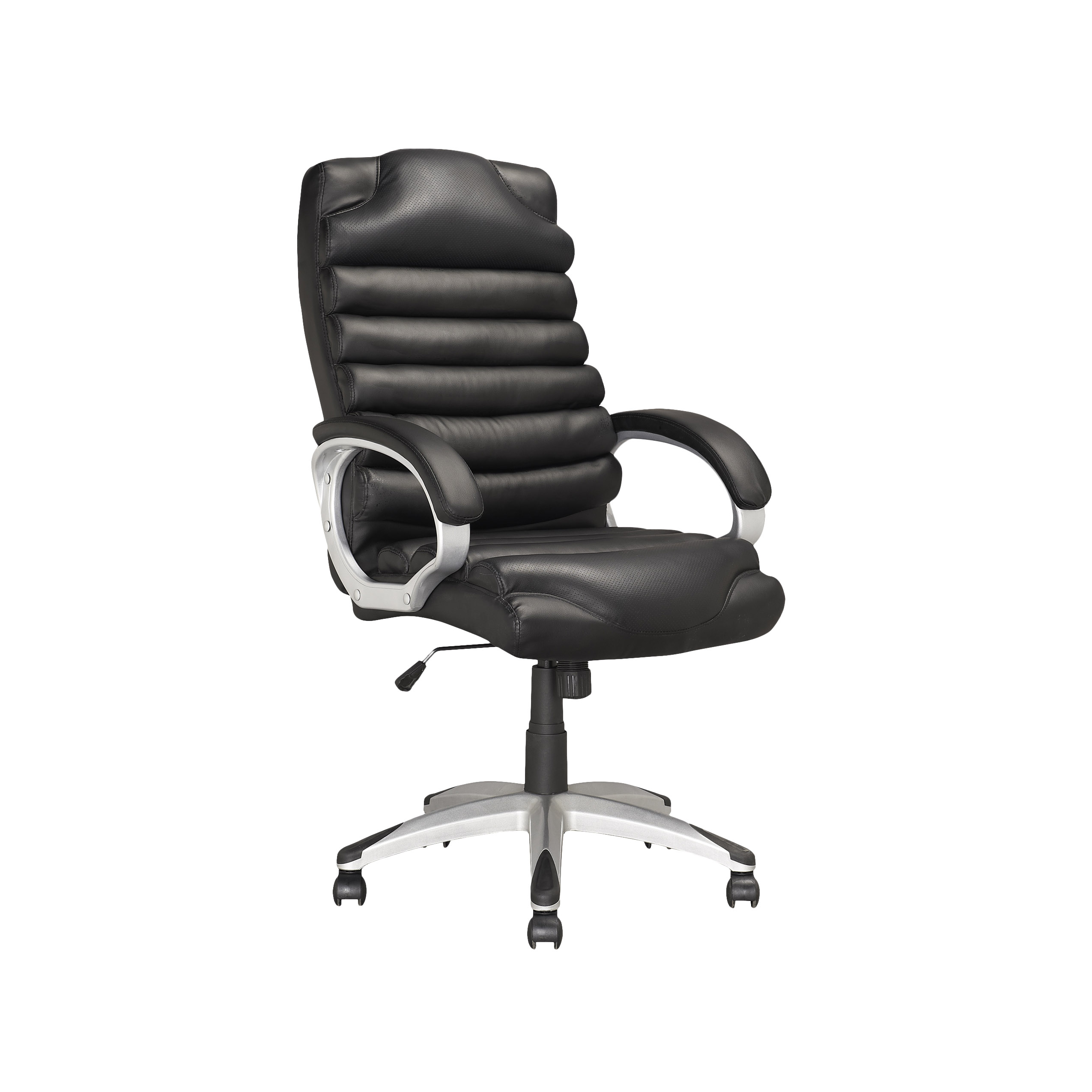 executive office chairs specifications sure fit chair slipcovers corliving in black leatherette