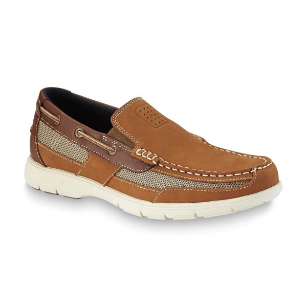 Thom Mcan Men' Starboard Leather Boat Shoe - Tan