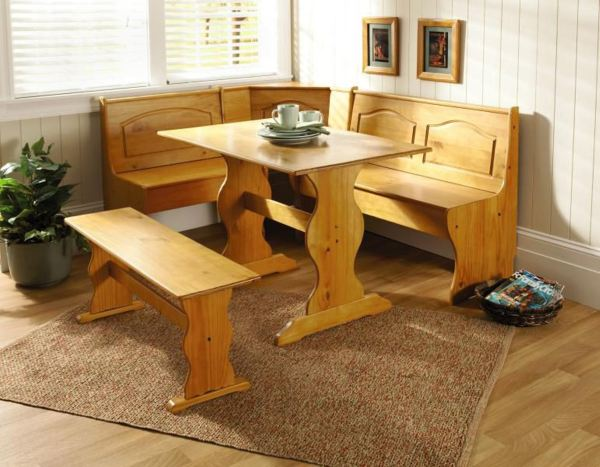 Essential Home 3 Piece Emily Breakfast Nook In Pine Online Shopping & Earn