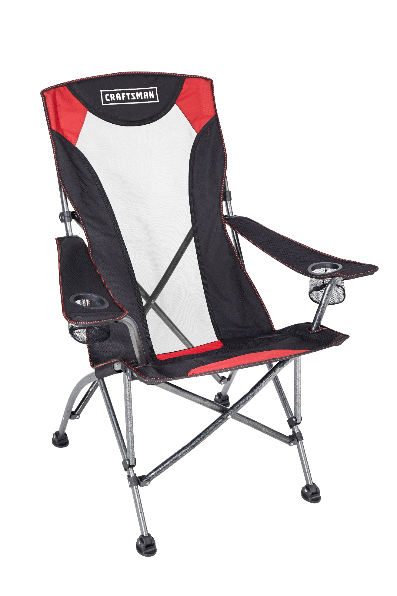 Folding Camping High Chair Craftsman High Back Chair