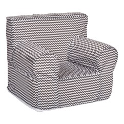 Gray Chevron Chair Mid Century Modern Lounge Trend Lab Bedtime Petite Accent Baby