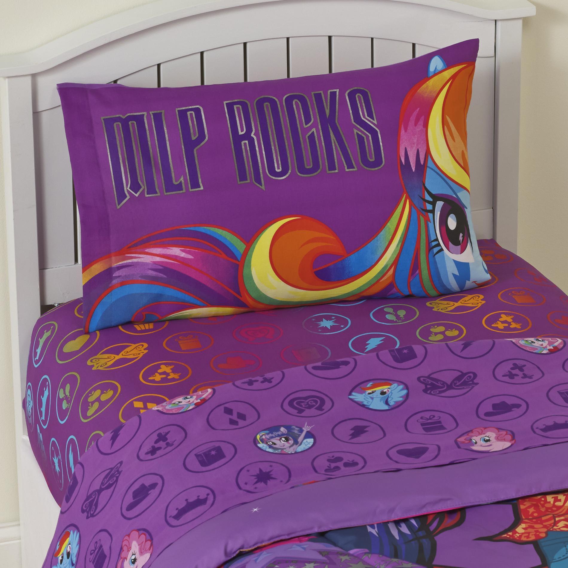 My Little Pony Girls Twin Sheet Set  MLP Rocks
